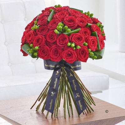 Luxury Crimson Naomi Rose Hand tied *