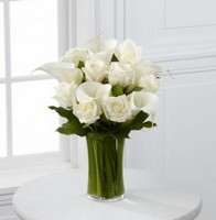 White Rose and Calla Lily Vase *