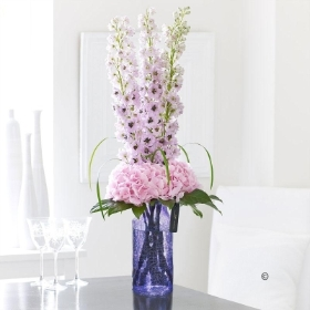Luxury Hydrangea and  Delphinium Vase *