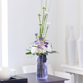 Luxury Lilac Rose, Calla Lily and Lisianthus Vase *